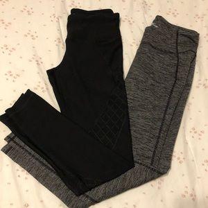 Bundle of two pairs of cropped yoga leggings